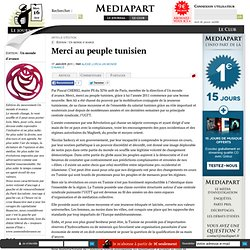 Merci au peuple tunisien