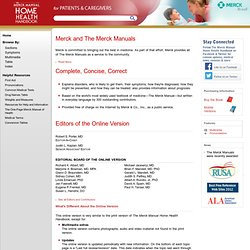 THE MERCK MANUAL MEDICAL LIBRARY: The Merck Manual of Medical Information--Home Edition