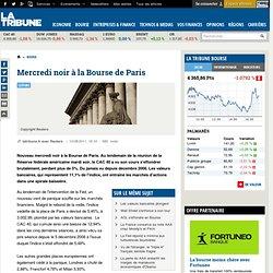 Mercredi noir à la Bourse de Paris