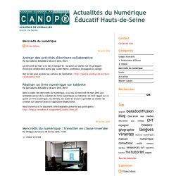 Mercredis du numérique - Actualités du Numérique Éducatif Hauts-de-Seine