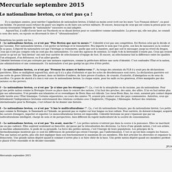 Mercuriale de septembre 2015