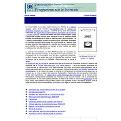 Global Mercury Assessment homepage