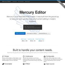 Mercury Editor - Home