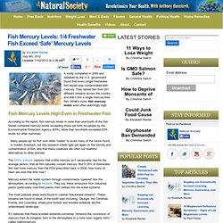 1/4 Freshwater Fish Exceed 'Safe' Mercury Levels