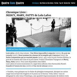 MERCY, MARY, PATTY de Lola Lafon