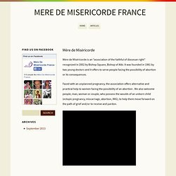 Mère de Miséricorde France