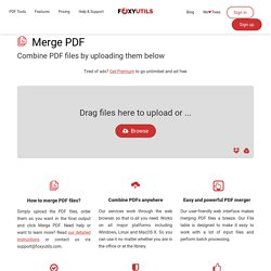 Merge PDF Documents Easily and for Free Using MergePDF.net