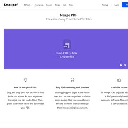 Merge PDF - Combine PDF files online for free