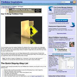 How To Merge FileMaker Files – FileMaker Inspirations