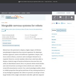 Mergeable nervous systems for robots