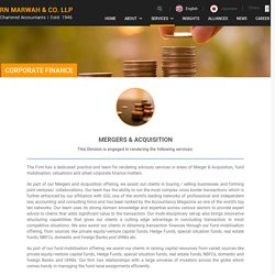 Mergers & Acquisition