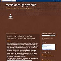 France : Evolution de la surface consacrée à l'agriculture biologique