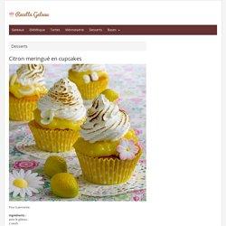 Citron meringué en cupcakes