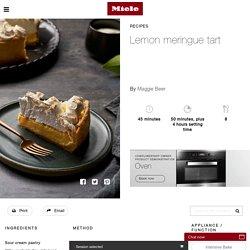 Lemon meringue tart – Miele Experience Centre