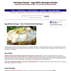 Meringue, Meringue Recipe, Egg White Meringue, How To Make Meringue, Perfect Meringue, Making Pie Meringue, Egg White Recipes