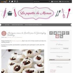 Meringues coeurs de chocolat pour le Yummyday Birthday