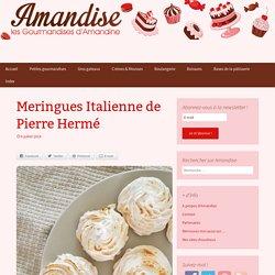 Meringues Italienne de Pierre Hermé