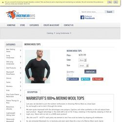 Merino Wool Tops, Warmstuff distributing