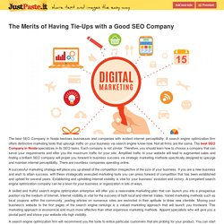 The Merits of Having Tie-Ups with a Good SEO Company