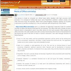 Merits of Office.com/setup