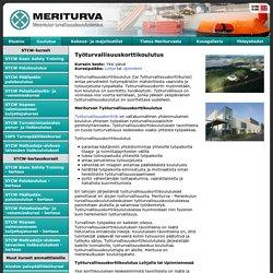 MERITURVA - Työturvallisuuskorttikoulutus