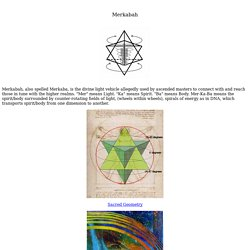 Merkaba - Star Tetrahedron - Flower of Life