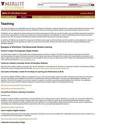 ePortfolio Portal: Teaching