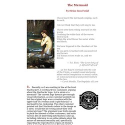 The Mermaid by Heinz Insu Fenkl -- The Endicott Studio Journal of Mythic Arts, Summer 2003