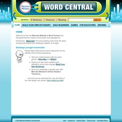 Merriam-Webster's Word Central