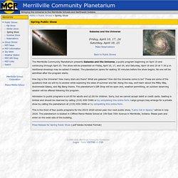 Spring Public Show - Merrillville Community Planetarium