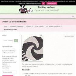 Merry-Go-Round Potholder » Knitting-and.com