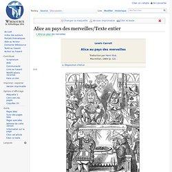 """Lire en ligne """"Alice au pays des merveilles"""" de Lewis Caroll"""
