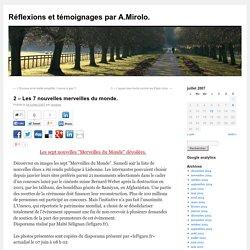 Réflexions et témoignages par A.Mirolo.