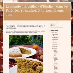 Fanouropita - Gâteau vegan à l'orange, aux épices et aux fruits secs