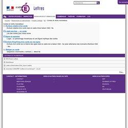 Contes et récits merveilleux — Site Lettres de l'académie de Lille