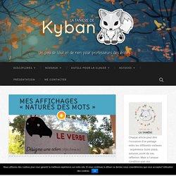 """Mes affichages """"natures des mots"""" - La tanière de Kyban"""