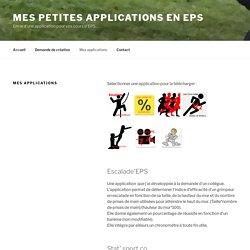 Mes applications - Mes petites applications en EPS
