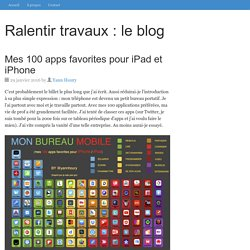 Mes 100 apps favorites pour iPad et iPhone