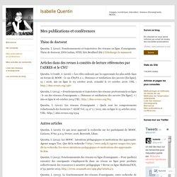 Mes publications et conférences