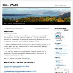 Mes tutoriels | Carnet d'André