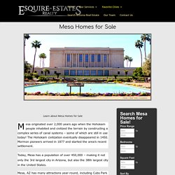 Mesa Homes For Sale from The Best Realtor in Mesa, AZ