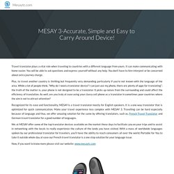 MESAY 3-Accurate, Simple and Easy to Carry Around Device!