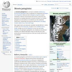 Meseta patagónica