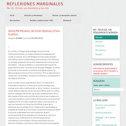 Sobre Mil Mesetas, de Gilles Deleuze y Felix Guattari