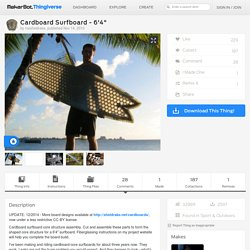 "Cardboard Surfboard - 6'4"" by mesheldrake"