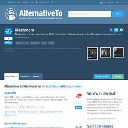 Meshroom Alternatives and Similar Software