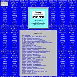 Mesillat Yesharim - Contents