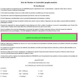 Test de Mesker et Latéralité grapho-motrice