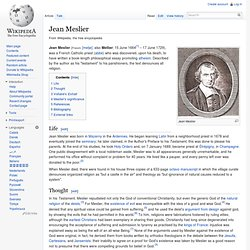 Jean Meslier - Wikipedia, the free encyclopedia
