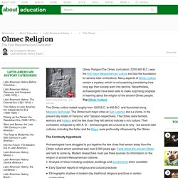 Olmec Religion - the First Mesoamerican Civilization